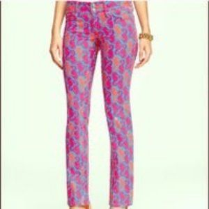 Lilly Pulitzer worth straight fitted jeans